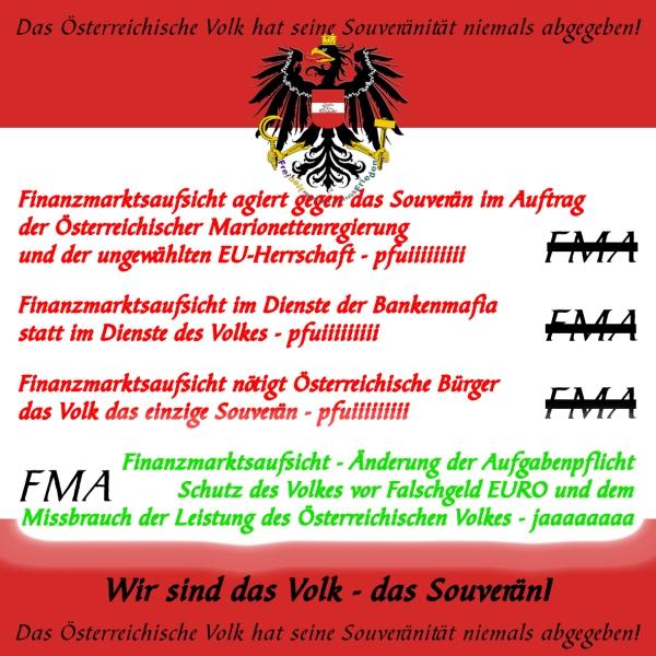 FMA-Änderungsforderung