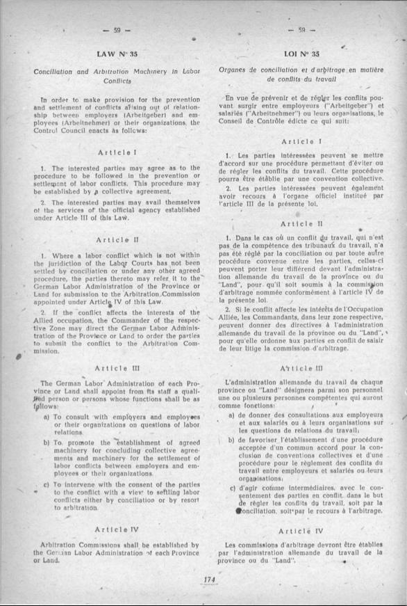 1-LAW NR.35 AUSGLEICHS UND SCHIEDSVERFAHREN in ARBEITSSTREITIGKEITEN