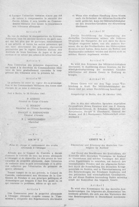 4-LAW NR.4 UMGESTALTUNG DES DEUTSCHEN GERICHTSWESENS