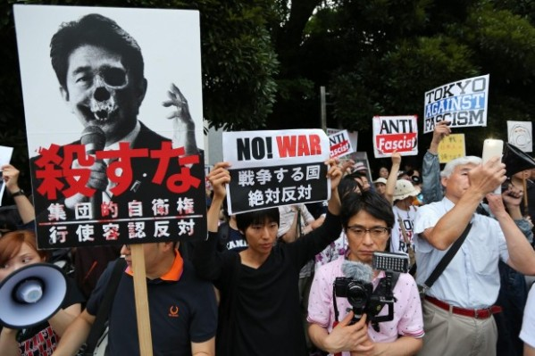 Protest-against-Japanese-Prime-Minister-Shinzo-Abe-s-collective-s
