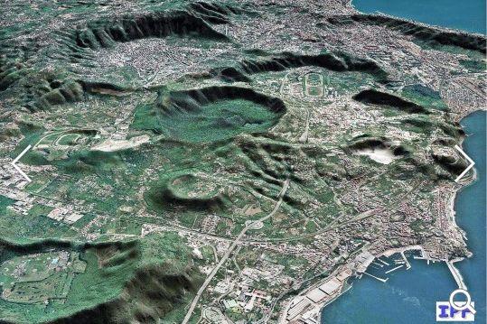 Magmablase unter den Phlegraeischen Feldern - Vesuv