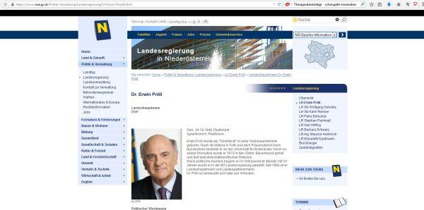 der Seite vertrauen - NÖ-Ladesregierung