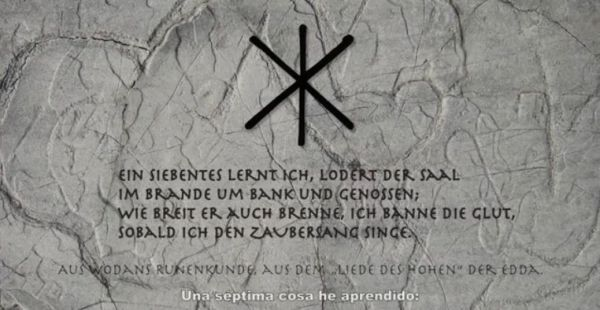 Germanischer Zaubersang - Wodans Runenkunde