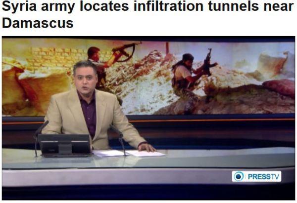 Syrische Armee hatTerror-Tunnel entdeckt