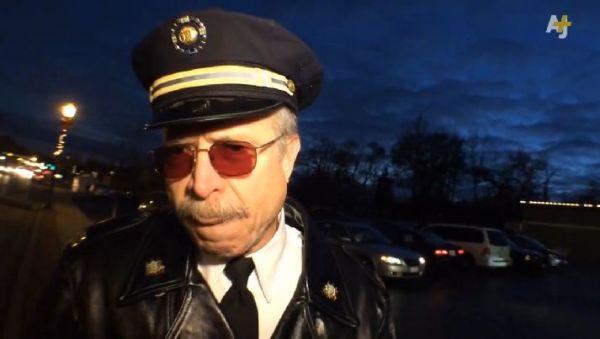 US-Polizist-mutig