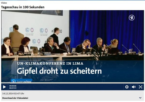 UN-Klimakonferenz in Lima scheitert