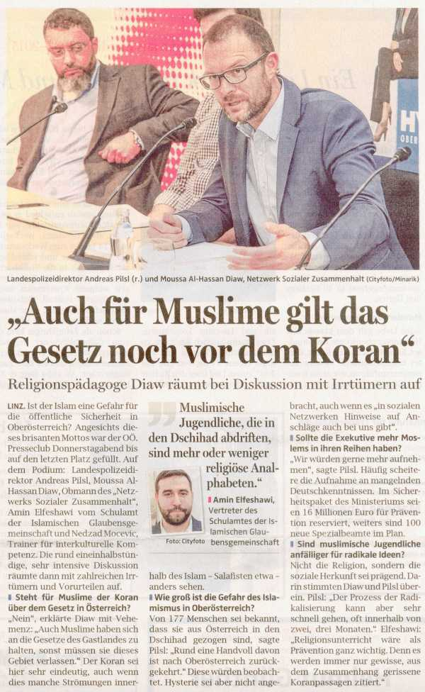 Auch für Muslime gilt das Gesetz noch vor dem Koran