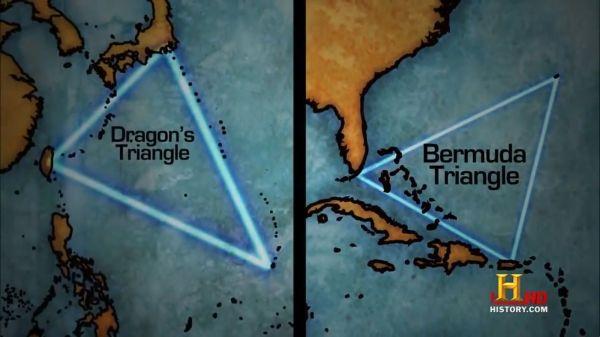 dragons triangle und bermuda triangle aus Unbekannte Strukturen unter Wasser