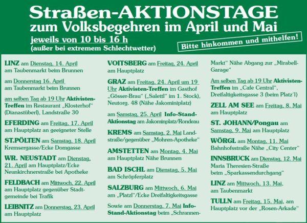 EU-Austritt-Strassen-Aktions-Tage