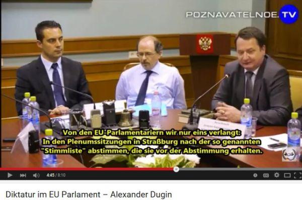 Abstimmung im EU-Parlament aufgrund vorgefertigter Stimmlisten