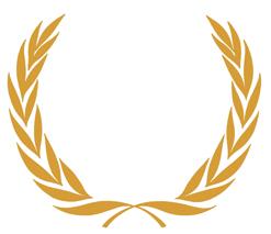 heraldischer kranz 2x13 blaetter + schleife