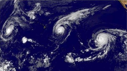 3 hurrikans im pazifischen Ozean - 31-8-2015