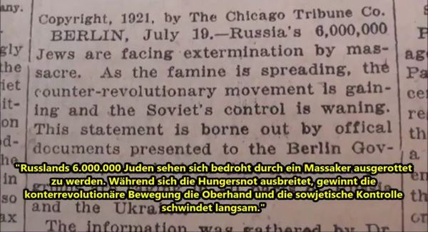 6 millionen russische juden in not 1921