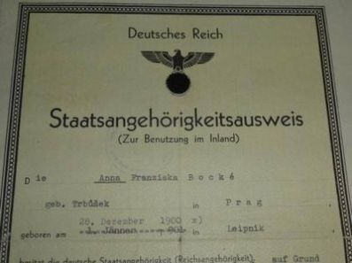 Deutsches Reich-Statsangehoerigkeit