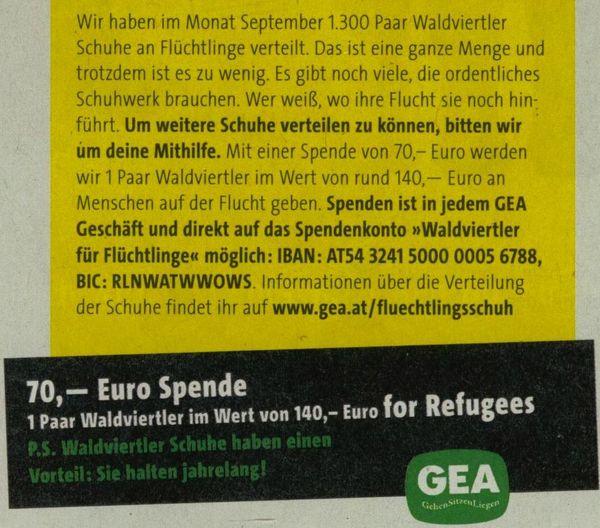 heini staudinger spendenaufruf für asylanten