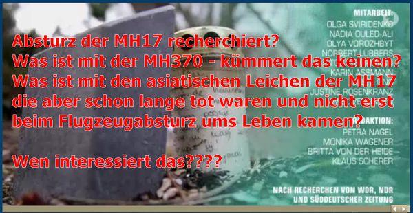 Absturz der MH17-im ARD-k