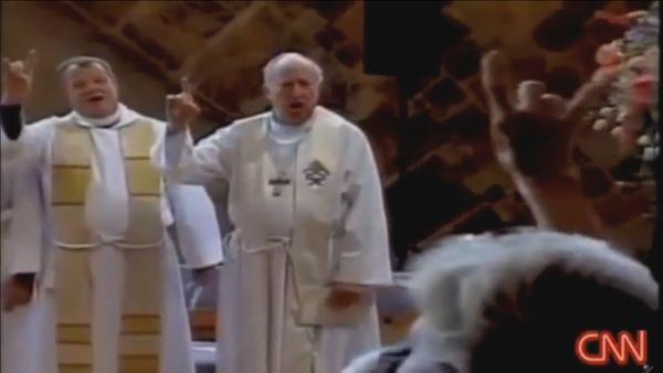 satansgruss in katholischer kirche-unfassbar