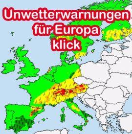 Unwetterwarnungen für Europa