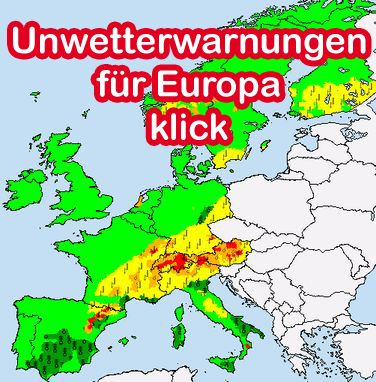 Unwetterwarnungen für Europa