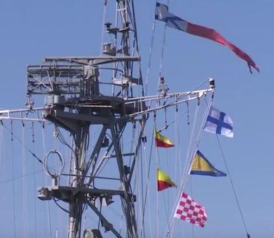 flaggen zu russischenm grossmanoever 25-8-2016